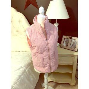 Pink pinstripe vest